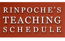 Rinpoches Teaching Schedule